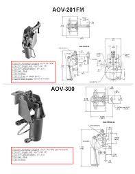 aov aov 201fm u0026 aov 300 clamp frame cylinders