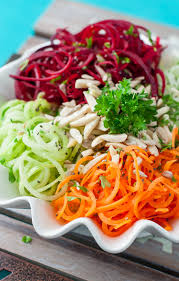 Noodle Salad Recipes Spiralized Veggie Salad Eat The Rainbow