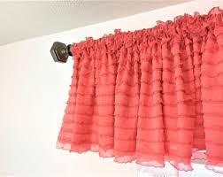 Coral Valance Curtains Coral Curtains Etsy