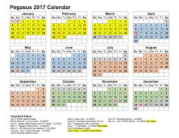calendar pegasus therapeutic academy