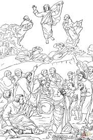 transfiguration of christ coloring page free printable coloring
