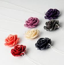 rose flower necklace images Bakelite rose sterling silver flower necklace by grace valour jpg