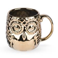 owl mug embossed metallic gold owl mug 20 oz moscow mule mugs bar
