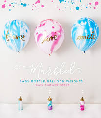baby shower balloons marbled baby shower balloon weights centerpiece hostess with