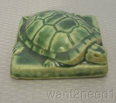 detroit art pewabic pottery turtle paperweight 3