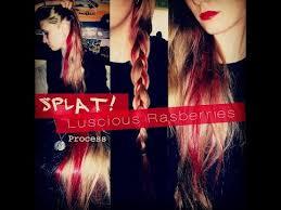 black hair to raspberry hair splat luscious raspberries highlight process no bleach youtube