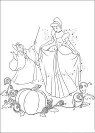 fairy helps cinderella coloring free printable coloring pages