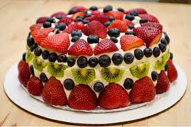 fruit fresh cheese pound cake with fresh fruit