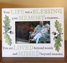 remembrance picture frame masculine remembrance frame your was a blessing