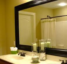 Framed Bathroom Vanity Mirrors by Framed Vanity Mirrors Large Home Design Ideas