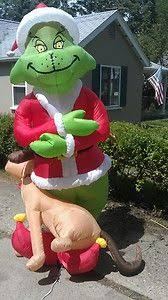 Blow Up Christmas Decorations Grinch by Gemmy 6 Ft Lighted Santa Christmas Inflatable Inflatables