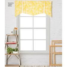 sewing pattern window treatments valance 8355