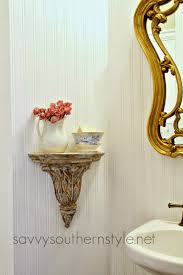 Powder Room Makeovers Photos Savvy Southern Style The Powder Room Makeover