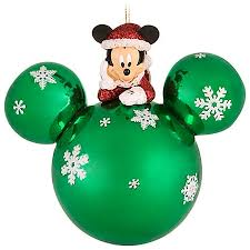 ornament santa mickey mouse ears green