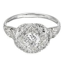 filigree engagement ring european cut diamond gold filigree engagement ring for sale at