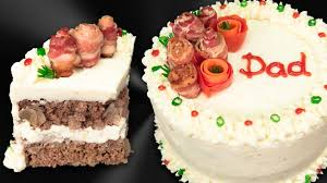 meatloaf cake with bacon roses from cookies cupcakes and cardio