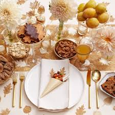 gold leaves thanksgiving table decor darcy miller designs