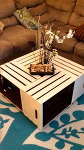 Diy Wood Crate Coffee Table by Wine Crate Coffee Table And End Table Wine Crates From Michaels