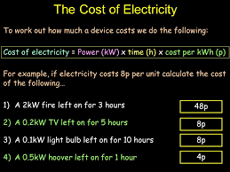light bulb cost calculator cost of electricity objectives be able to calculate the cost of
