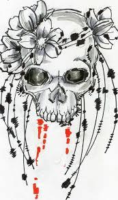 flower skull design