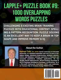 Business Intelligence Specialist Lapple Puzzle Book 9 1000 Overlapping Words Puzzles Lapple Iq