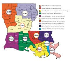 Southeast States And Capitals Map by Locate Services Department Of Health State Of Louisiana