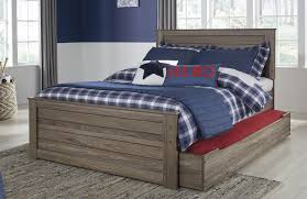 javarin grayish brown full panel trundle bed for 444 00