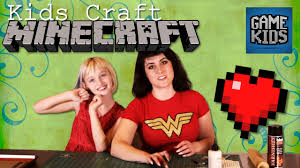 minecraft hearts kids craft youtube