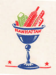 manhattan cocktail napkin 1940s restaurant art u2013 love menu art