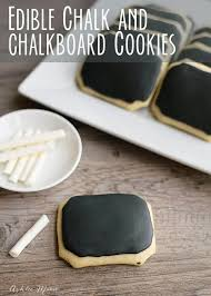 chalkboard cookies with edible chalk ashlee marie