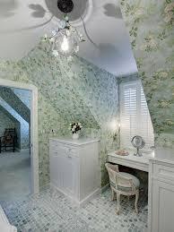 funky bathroom wallpaper ideas photos hgtv guest bathroom with simple white vanity loversiq