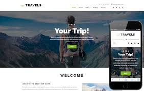travel web images Njoy travels a travel category bootstrap responsive web template jpg
