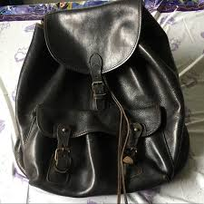 Rugged Leather Backpack 84 Off Banana Republic Handbags Vintage Banana Republic Rugged