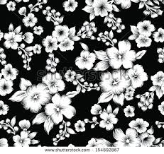 vintage black black and white flowers free vector stock graphics