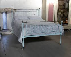 early simple english forged brass and iron bed king size