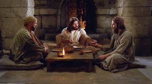 christ communes with two disciples