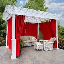 Outdoor Gazebo Curtains How Curtains Perk Up Your Outdoor Space Gazebo Awesome For Porch