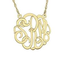 script monogram necklace script monogram necklace gbf gifts
