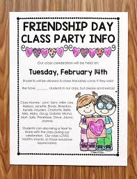 friendly letter template 2nd grade free valentine s day letter simply kinder free valentine s day letter for a class party fully editable and has a friendship day