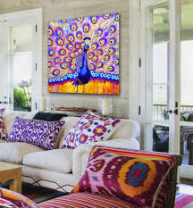 art blog for the inspiration place transform your boring living this living room packs a powerful visual punch but really starts with a white or beige couch white walls and plain furnishings