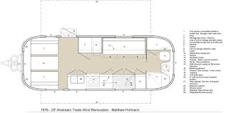 Airstream Travel Trailers Floor Plans by An Architect U0027s Airstream Plans