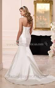 luxe satin mermaid dress with corset back wedding dress bridal