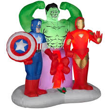 amazon com gemmy airblown inflatable marvel avengers assemble