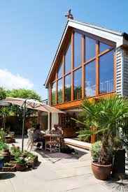 pitched roof extension mezzanine bringing outside in feature