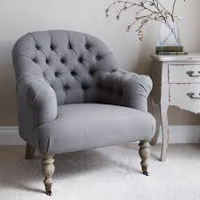 grey linen chair linen button back armchair grey primrose plum