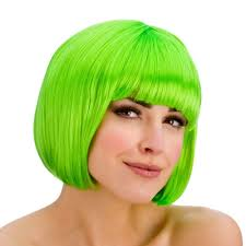 ladies diva short hair bob wig fringe fancy dress hollywood 80s