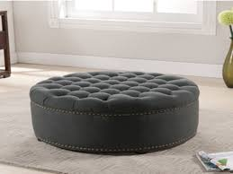 round tufted coffee table top large tufted ottoman round leather ottomans coffee tables large