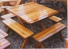 Building Outdoor Wooden Tables by Best 25 Picnic Tables Ideas On Pinterest Diy Picnic Table