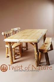 Log Dining Room Table by Handmade Log Dining Table Wood Dining Table Log Dining
