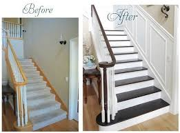 How To Paint A Banister Black Finished Staircase Centsational Style